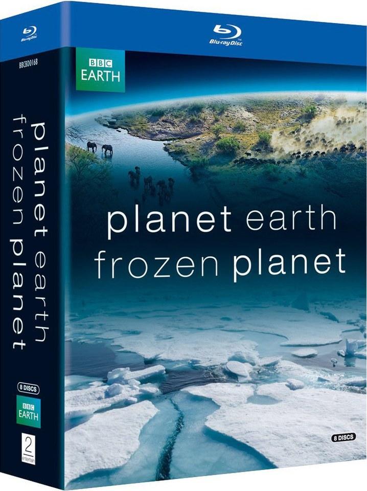 Planet Earth Frozen Planet Double Pack Blu Ray Zavvi
