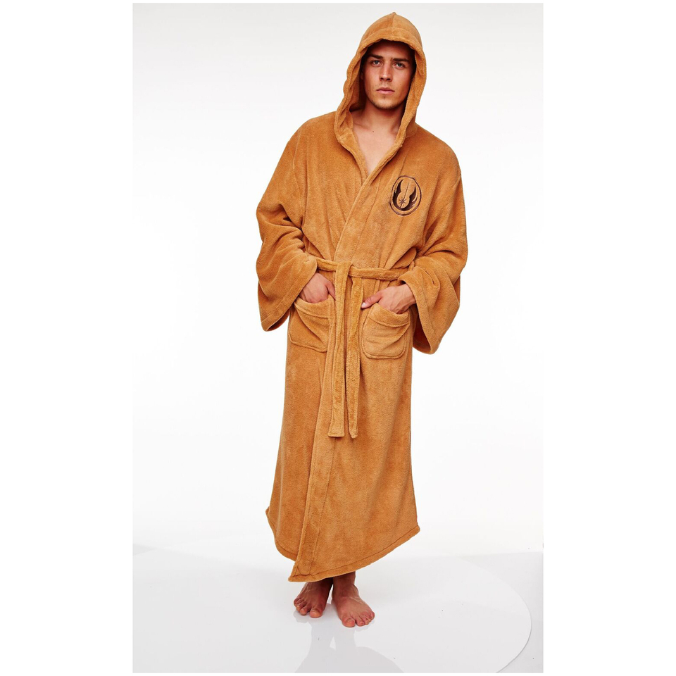 Gifts for geeks novelty franchise present ideas iwoot star wars jedi adult fleece bathrobe one size negle Images