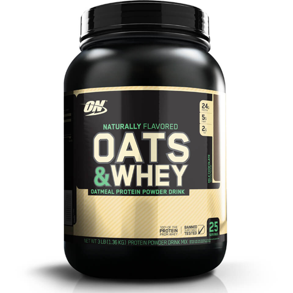 Optimum Nutrition Natural 100% Oats & Whey - Vanilla, Tub, 1360g