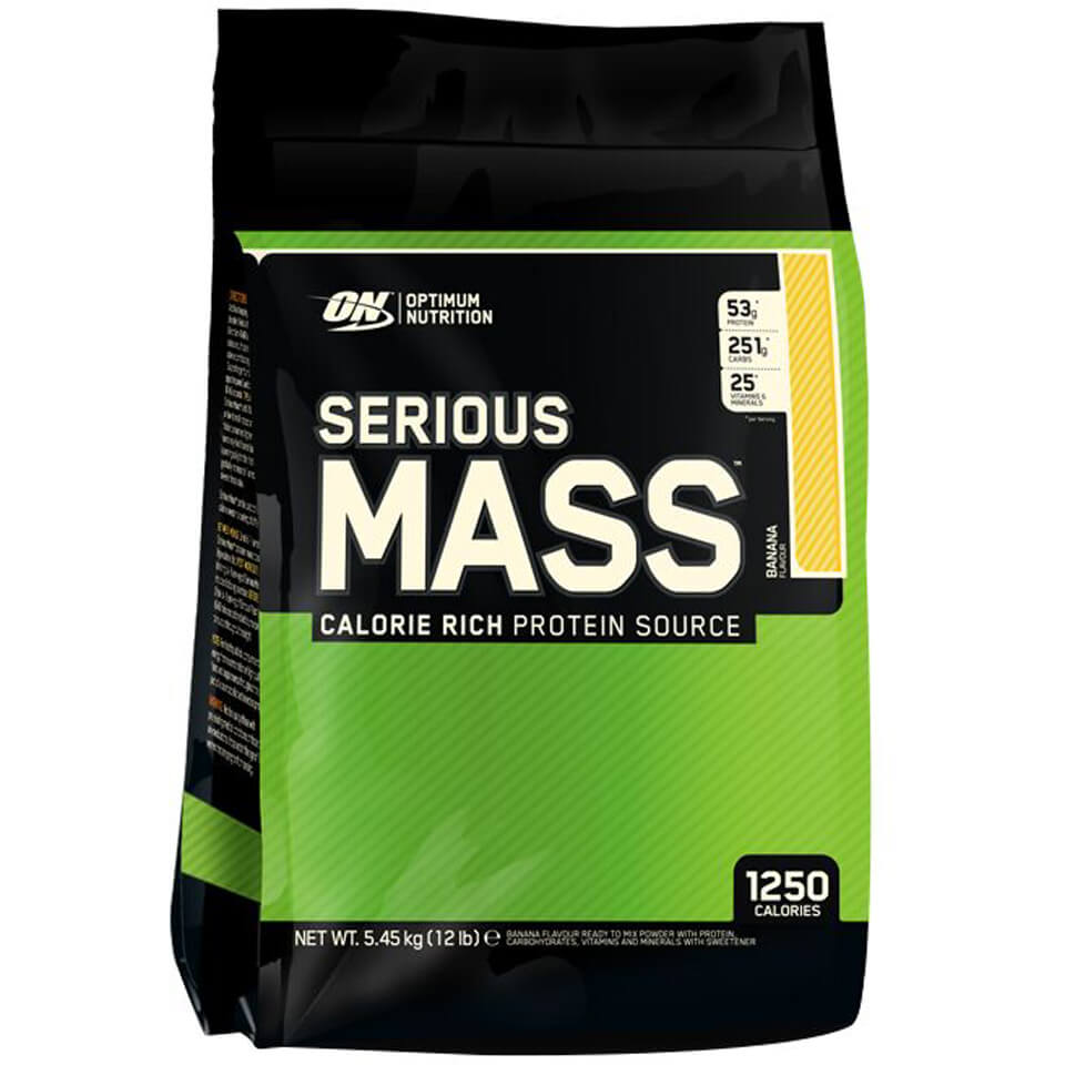 Optimum Nutrition Serious Mass - Strawberry, Bag, 5450g