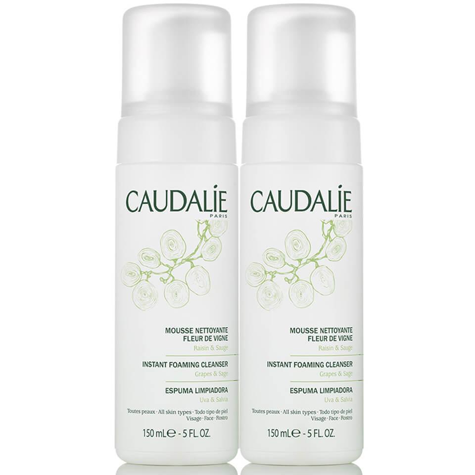 2 Pack - Caudalie Instant Foaming Cleanser Fleur de Vigne 5 oz Doctor D. Schwab Sensitive Cleanser - travel size 1 fl.oz. / 30 ml