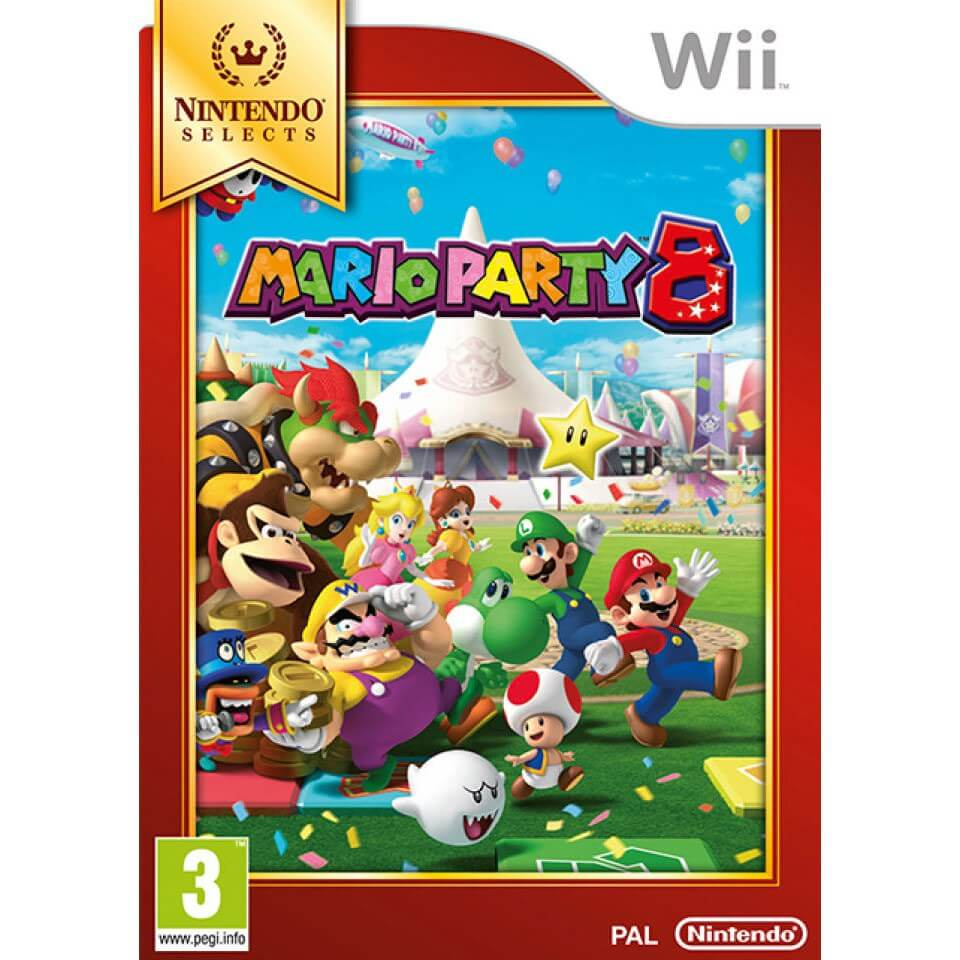 wii nintendo selects mario party 8 nintendo official uk store. Black Bedroom Furniture Sets. Home Design Ideas