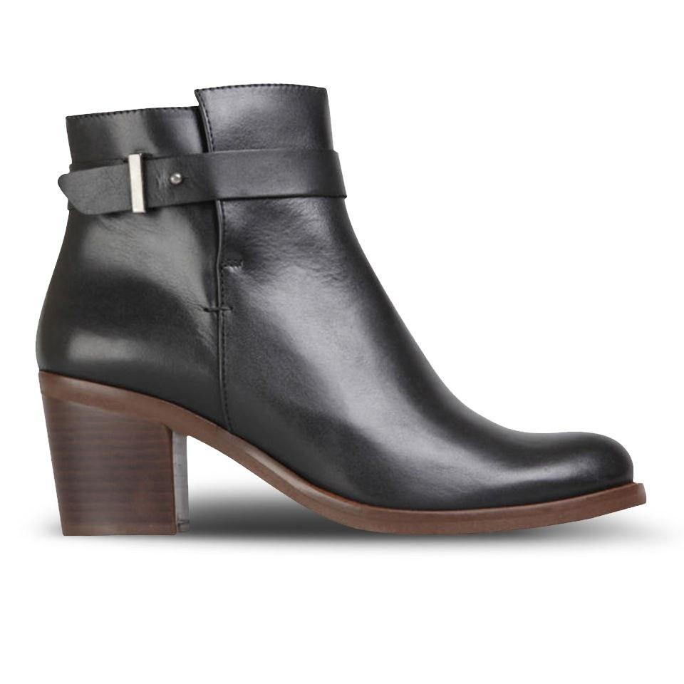 59f5f9f6392b0 ... KG Kurt Geiger Women's Sasha Heeled Leather Ankle Boots - Black
