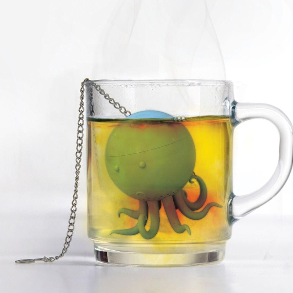 Kitchen Tea Accessories: Mustard Octeapus Tea Infuser