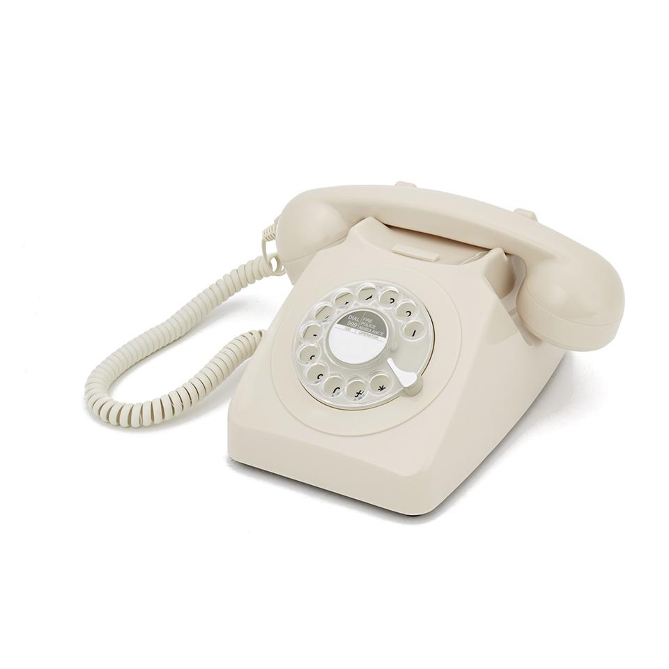 GPO 746 Retro Drehscheiben Telefon - Creme | SOWIA