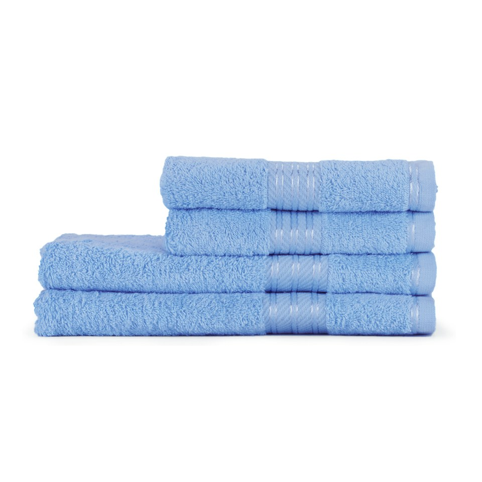 Restmor 100% Egyptian Cotton 4 Piece Supreme Towel Bale Set (500gsm) - Cobalt Blue