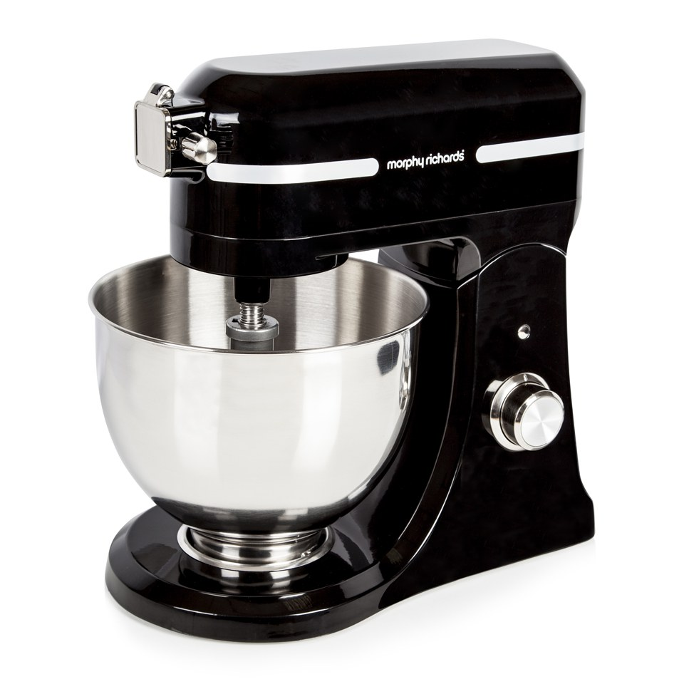 Morphy Richards 400008 Professional Cast Stand Mixer With Guard Black Homeware Thehut
