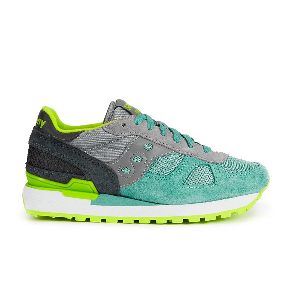 a96bf7622a61b ... Saucony Women's Shadow Original Trainers - Light Grey/Light Green