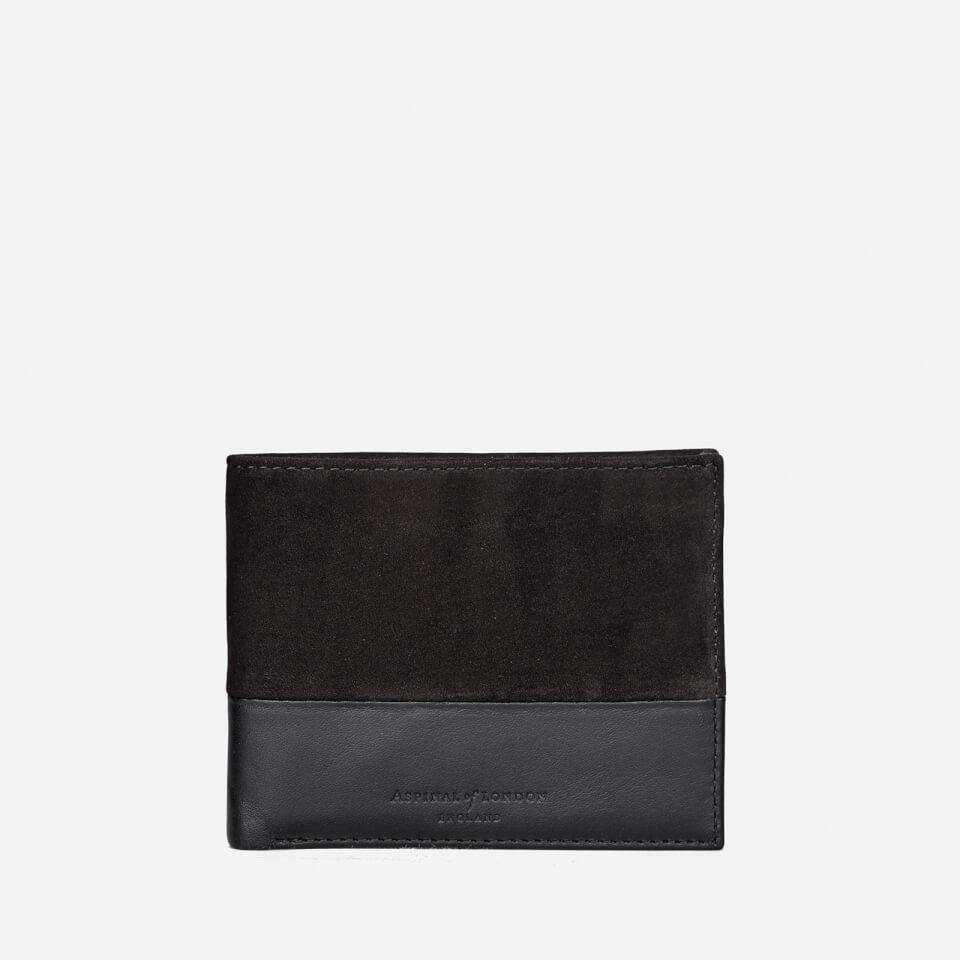 6996c095cbf5 Aspinal Of London Men S Shadow Billfold Wallet Black Mens. Accessories ...