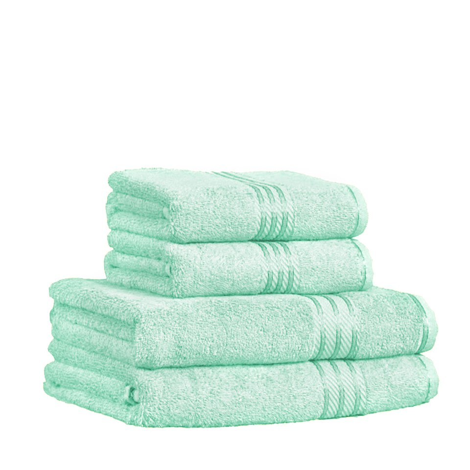 Restmor 100% Egyptian Cotton 4 Piece Supreme Towel Bale Set (500gsm) - Seafoam