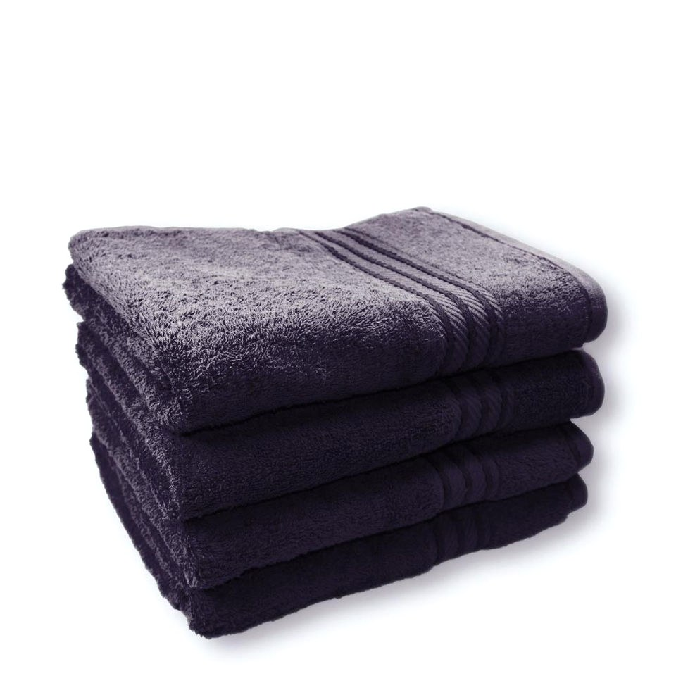 Restmor 100% Egyptian Cotton 4 Pack Bath Sheets (500gsm)  - Navy