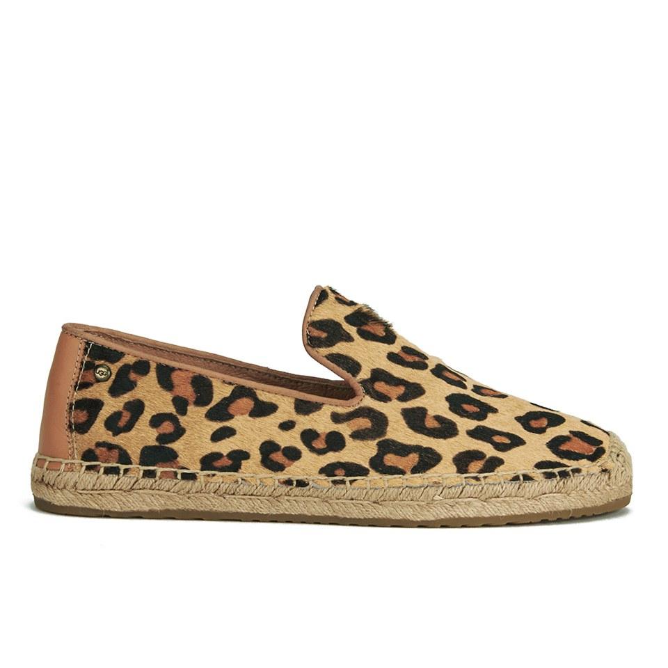 aa38b6a6aba UGG Women's Sandrinne Calf Hair Leopard Slip On Espadrille Shoes - Chestnut  Leopard