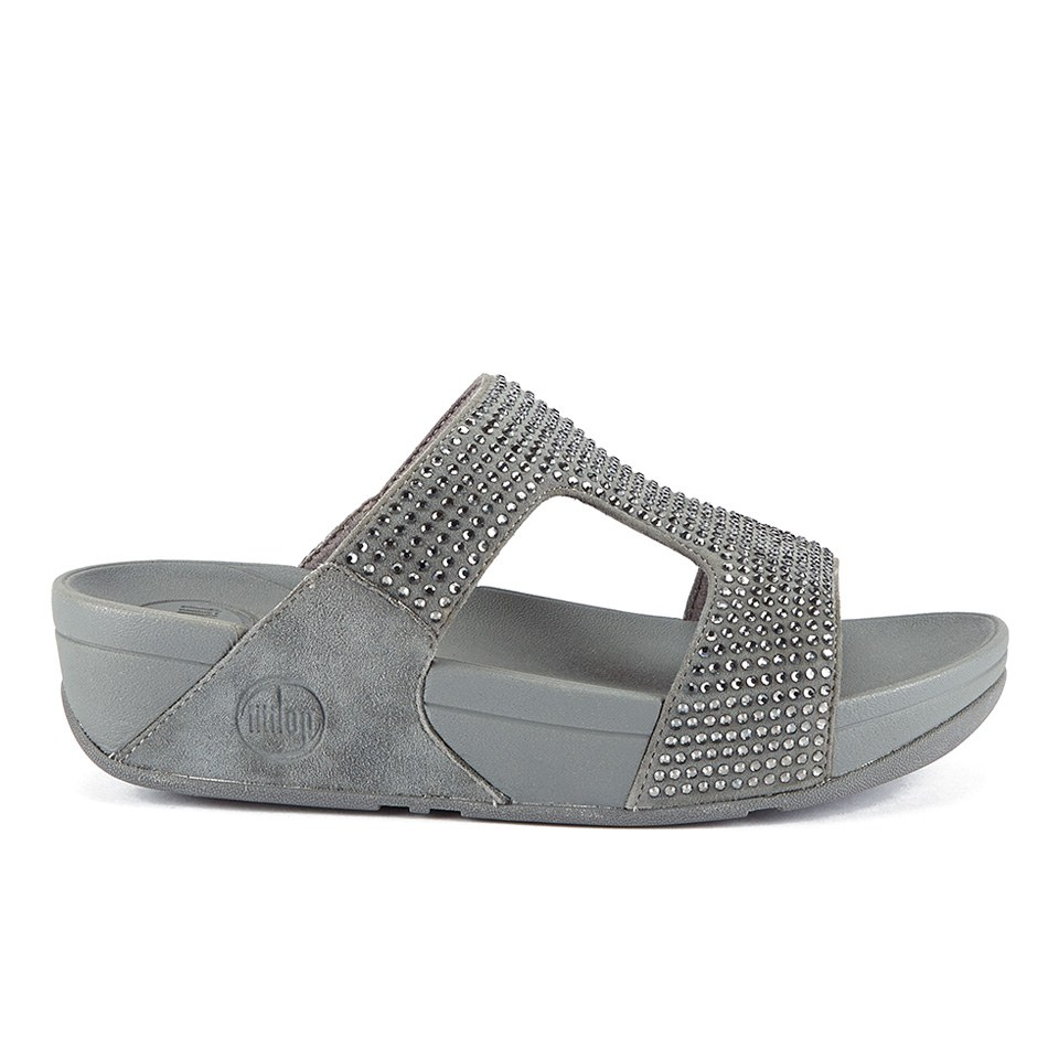 b9f29edd6077 FitFlop Women s Rokkit Suede Slide Sandals - Silver Nova Womens ...