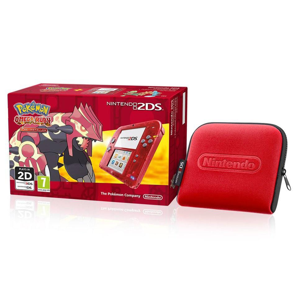 Nintendo 2ds Transparent Red Pok 233 Mon Omega Ruby