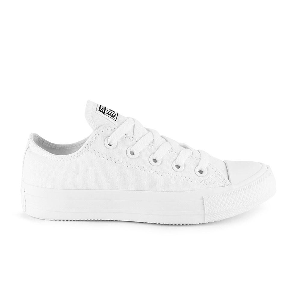 dfe7efa392b750 ... Converse Unisex Chuck Taylor All Star OX Canvas Trainers - White  Monochrome