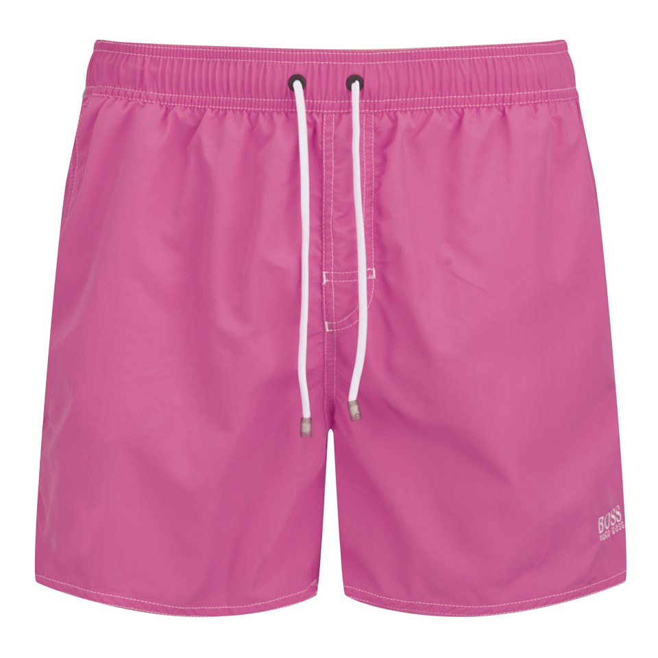 2fd9e73ec1c15 BOSS Hugo Boss Men's Lobster Swim Shorts - Pink - Free UK Delivery over £50