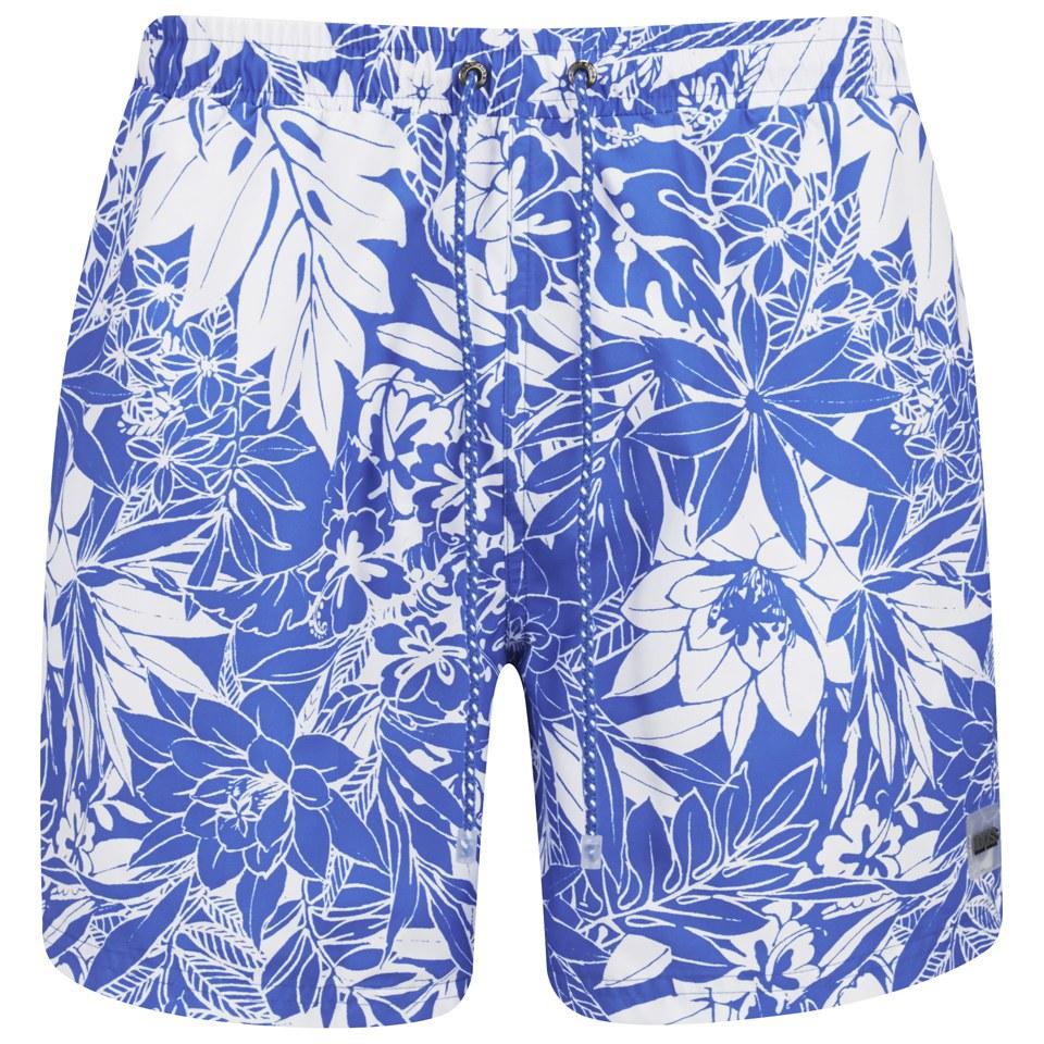 7c9c0ea099 BOSS Hugo Boss Men's Piranha Swim Shorts - Blue - Free UK Delivery ...
