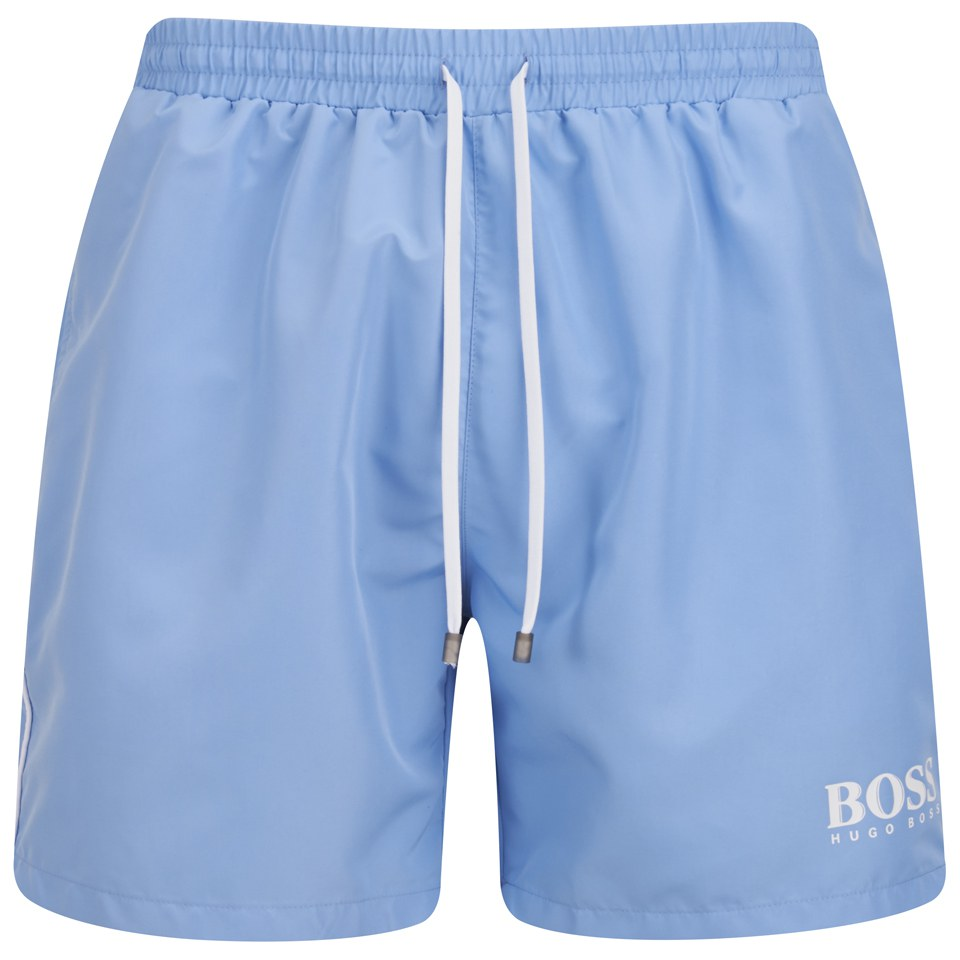 6024a169 BOSS Hugo Boss Starfish Swim Shorts - Light Blue - Free UK Delivery ...