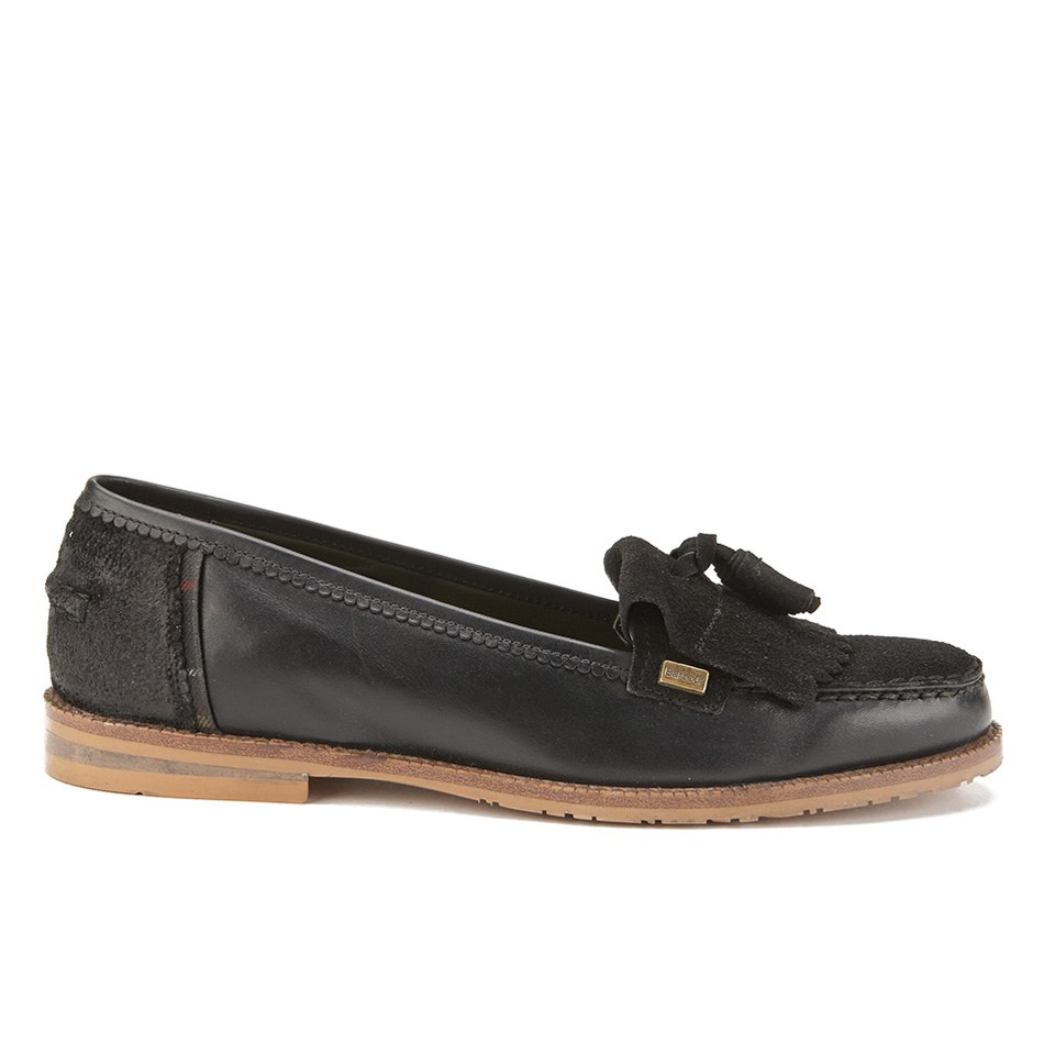 new collection good out x another chance Barbour Women's Amber Suede Tassel Loafers - Black | FREE UK ...