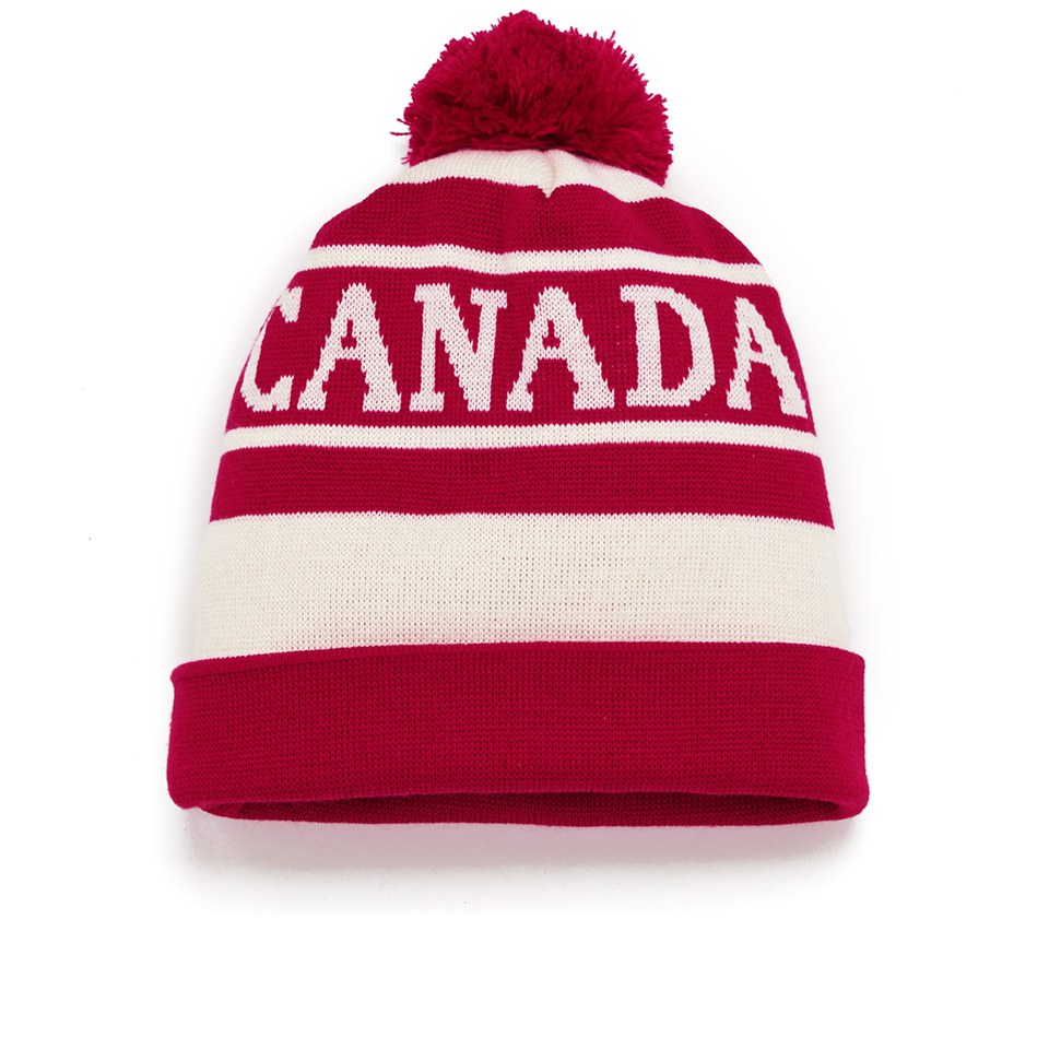 02a52b4d516 Canada Goose Logo Pom Hat - Red White - Free UK Delivery over £50