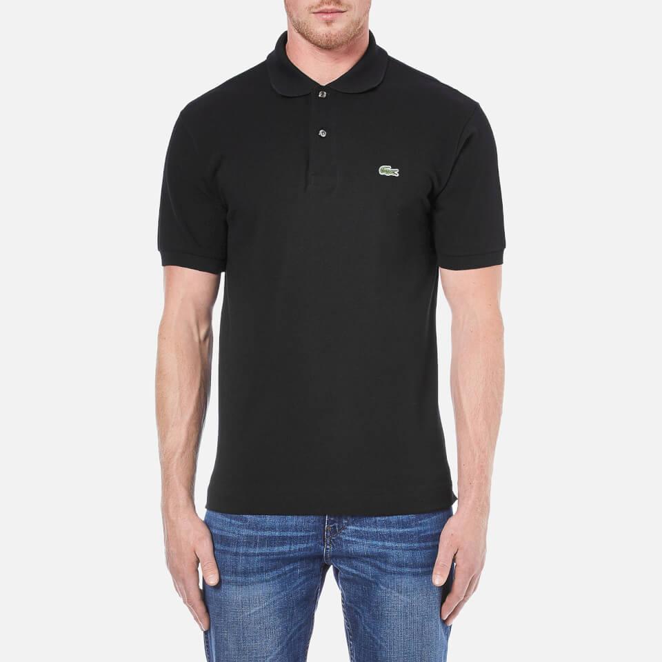 Lacoste men 39 s basic pique short sleeve polo shirt black clothing - Lacoste poloshirt weiay ...