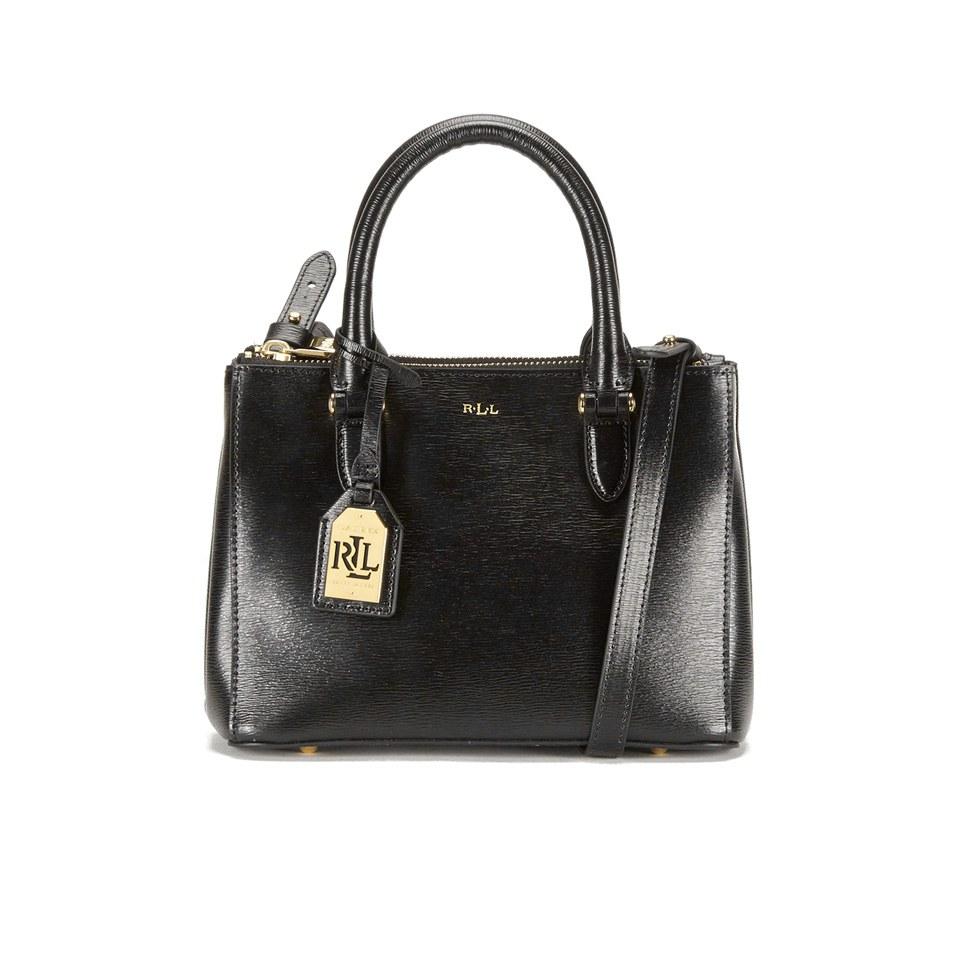 das billigste feine handwerkskunst absolut stilvoll Lauren Ralph Lauren Women's Newbury Mini Double Zip Satchel - Black/Gold