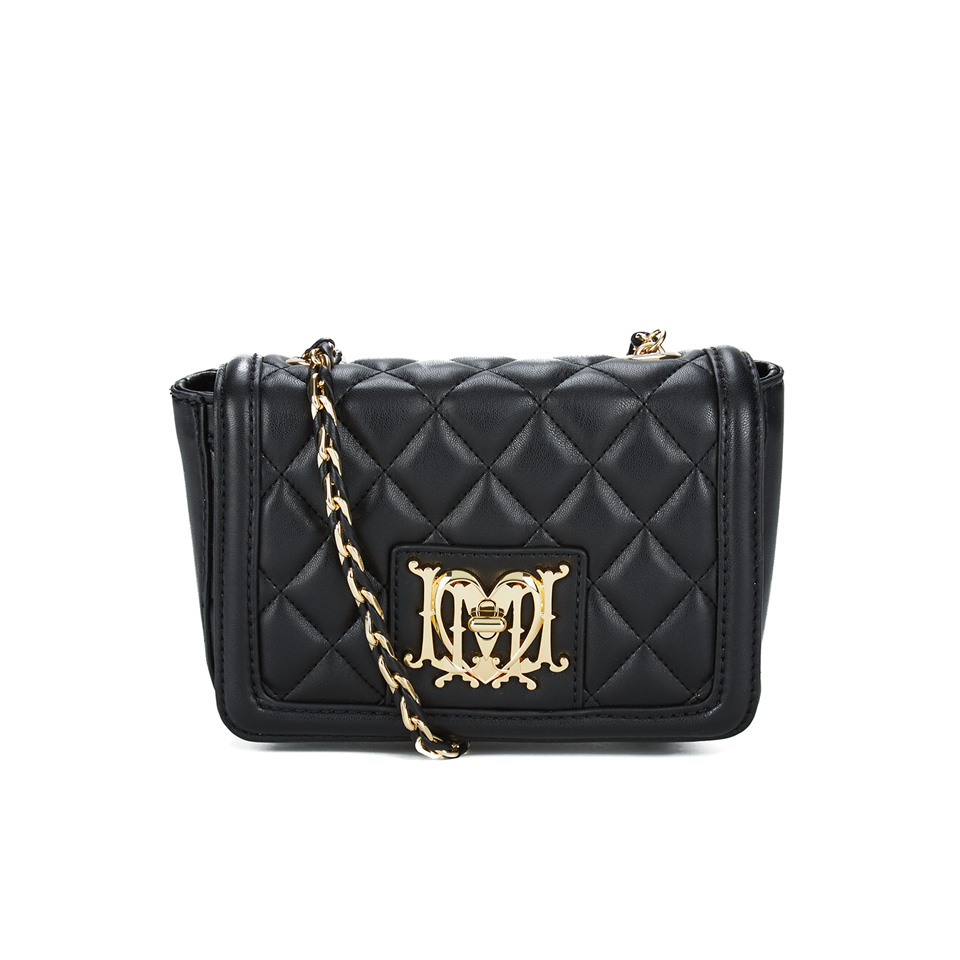 a7a6e40345 Love Moschino Women s Quilted Small Cross Body Bag - Black - Free UK ...