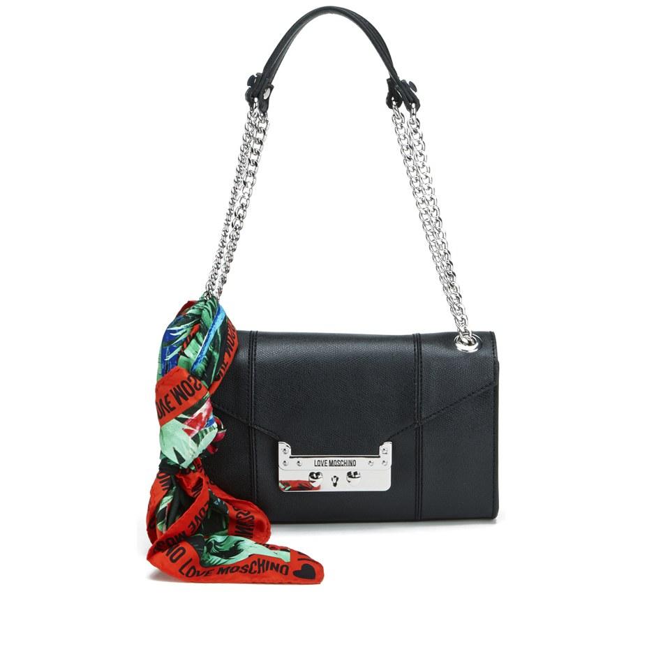 8bc68eb1b48 Love Moschino Women's Saffiano Shoulder Bag - Black - Free UK ...