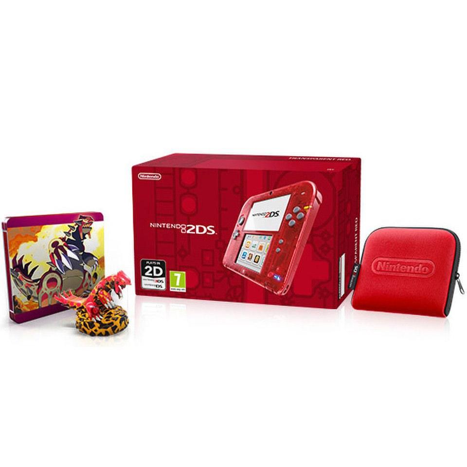 Nintendo 2ds Transparent Red Pok 233 Mon Omega Ruby Steelbook