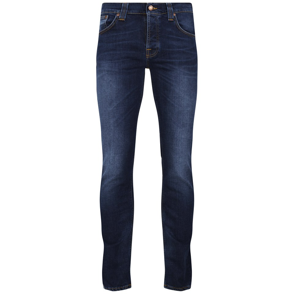 c33e33a0030 Nudie Jeans Men s Grim Tim Straight Slim Jeans - Crosshatch Worn In ...
