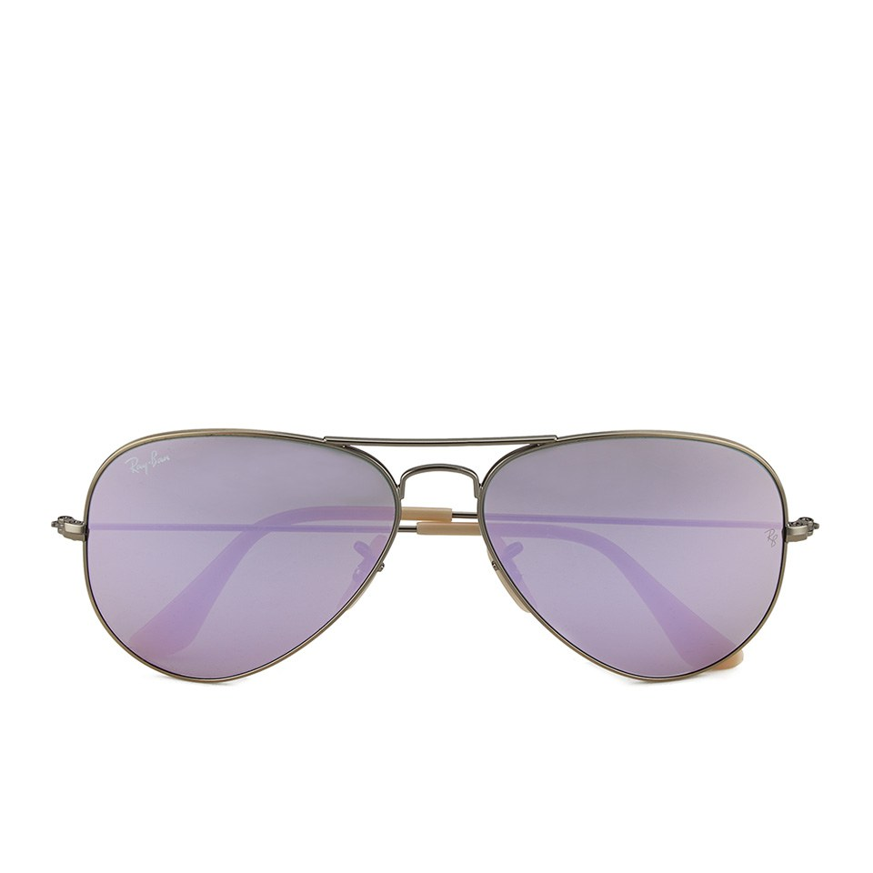 4ff1e1cbafcb7 ... Ray-Ban Aviator Large Metal Sunglasses - Demiglos Brushed Bronze Lilac  Mirror - 58mm