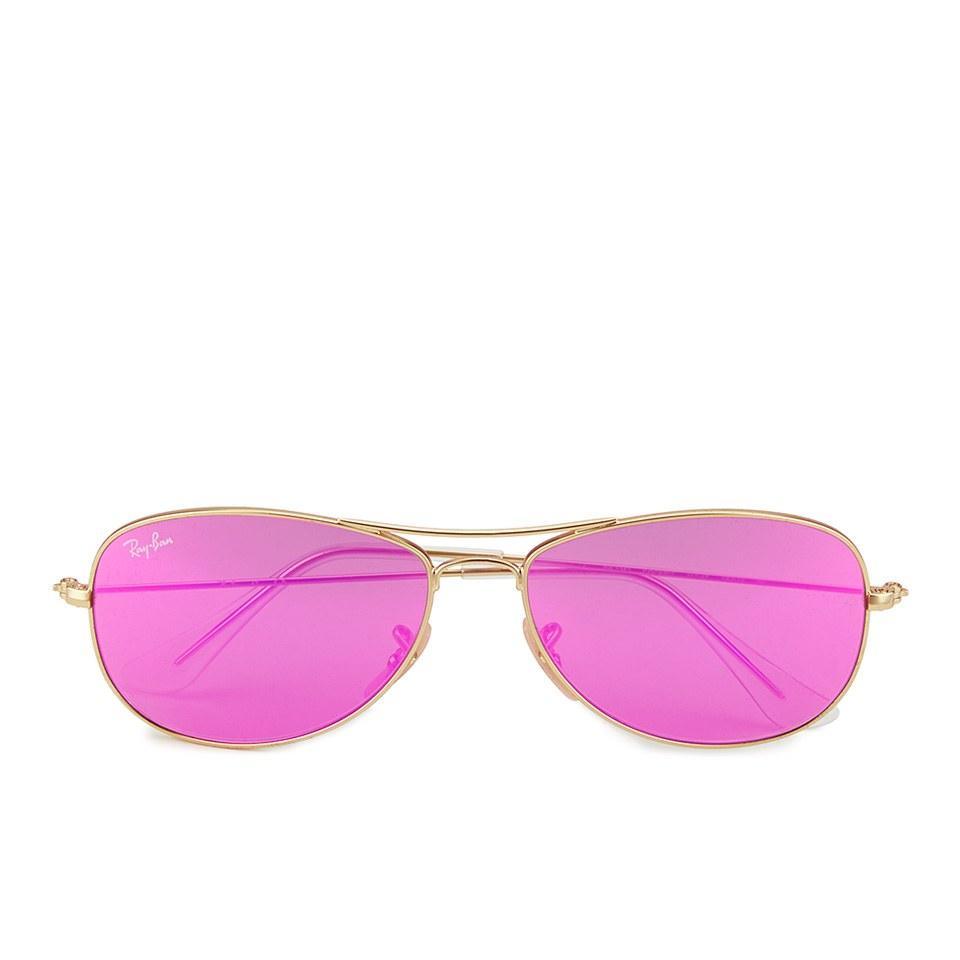 ea5a989176296 ... Ray-Ban Women s Cockpit Sunglasses - Matte Gold Cyclamen Mirror - 56mm