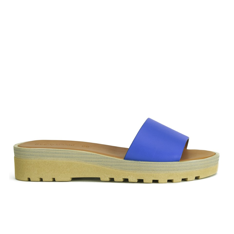6298817617c See By Chloé Women s Leather Slip-On Flat Sandals - Blue - Free UK ...