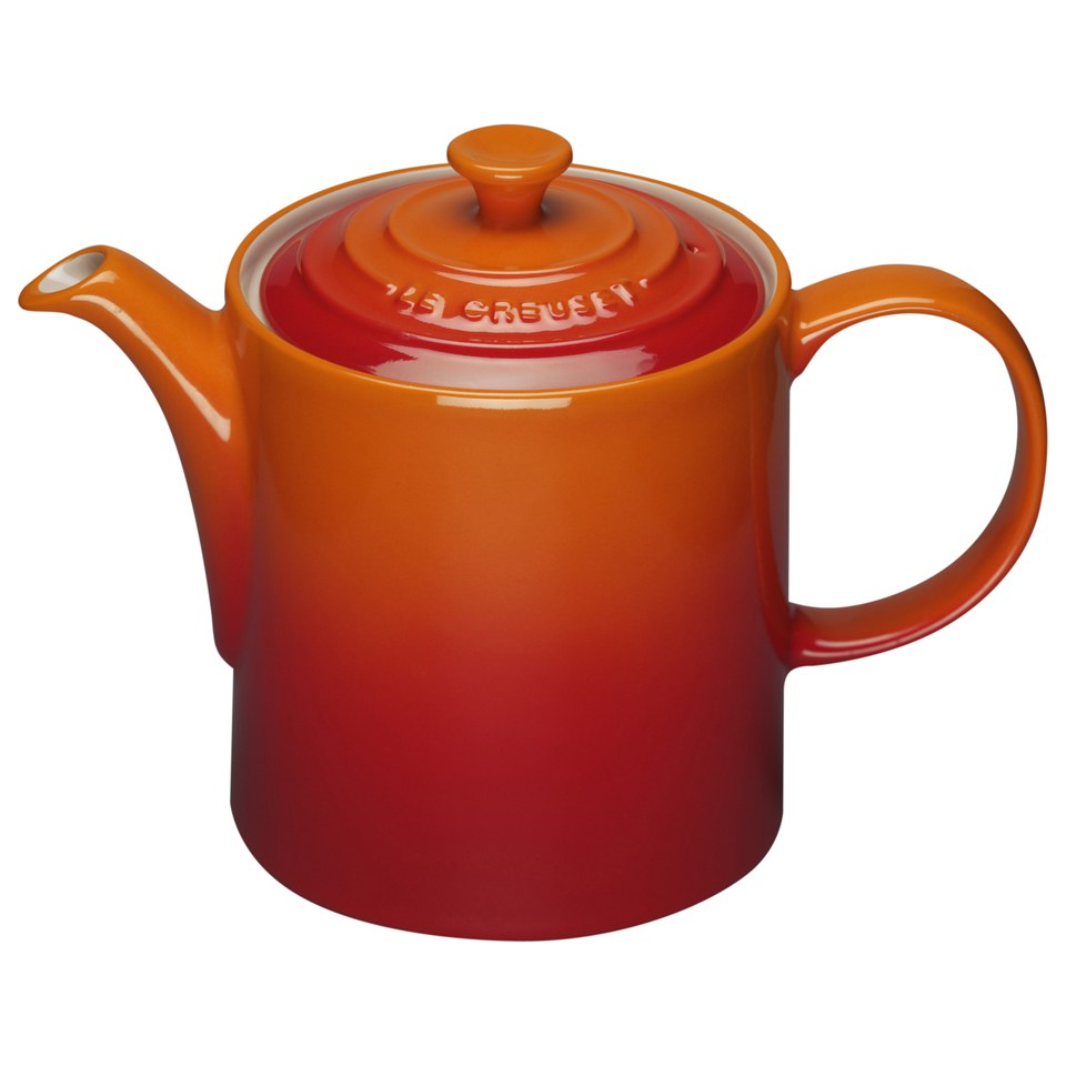 le creuset stoneware grand teapot 1 3l volcanic iwoot. Black Bedroom Furniture Sets. Home Design Ideas
