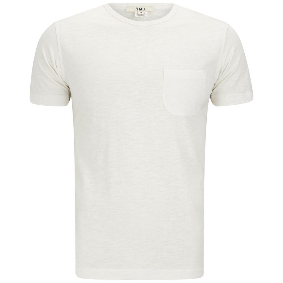 YMC Men s Classic Pocket Cotton Slub Jersey T-Shirt - White - Free UK  Delivery over £50 7c829bfa5e8