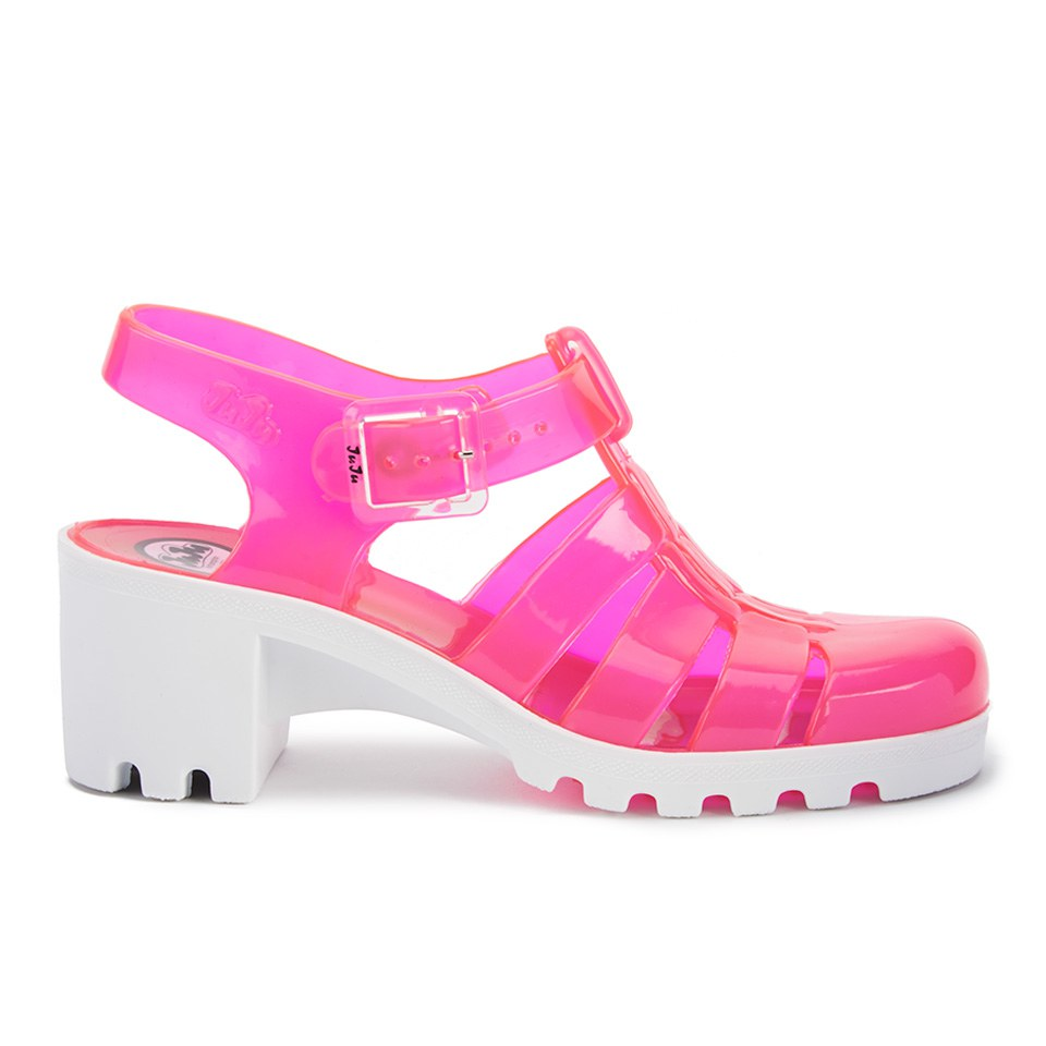 d9983a138c31 JuJu Women s Babe Heeled Jelly Sandals - Rose White - Free UK Delivery over  £50