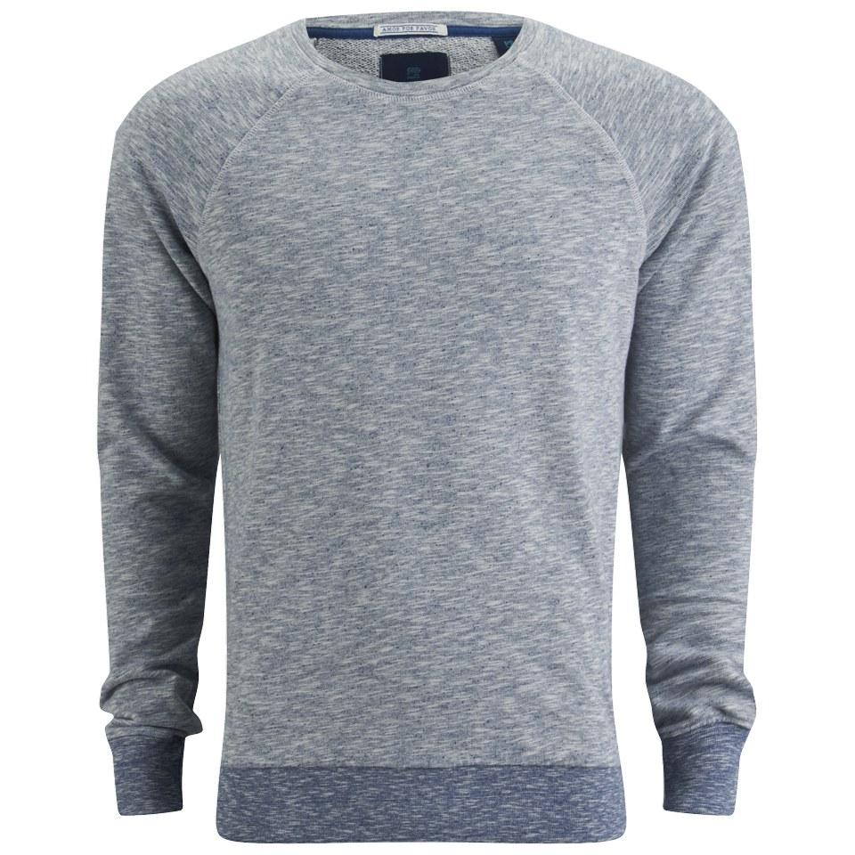984ba4b32 ... Scotch & Soda Men's Crew Neck Premium Melange Sweatshirt - Worker Blue