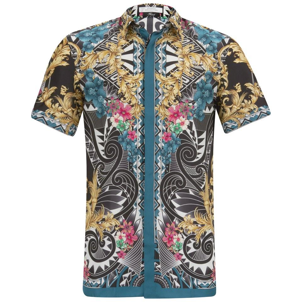 versace shirt short sleeve