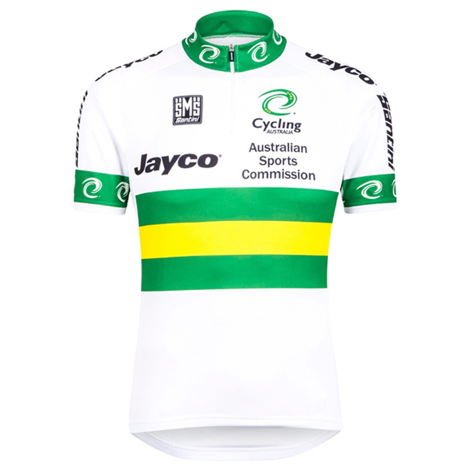 Santini Australian National Team 15 Short Sleeve Jersey - White ... 413d2bfaa