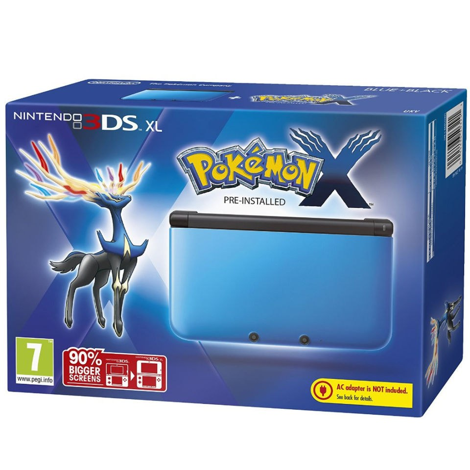 Nintendo 3ds Xl Blue And Black Console Includes Pokemon X Games Wiring Diagram Consoles Zavvi