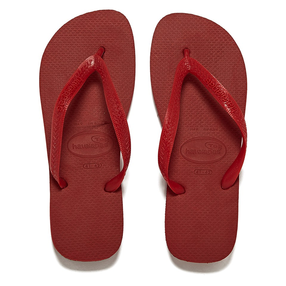 2c7f03db47bb Havaianas Unisex Top Flip Flops - Red - Free UK Delivery over £50