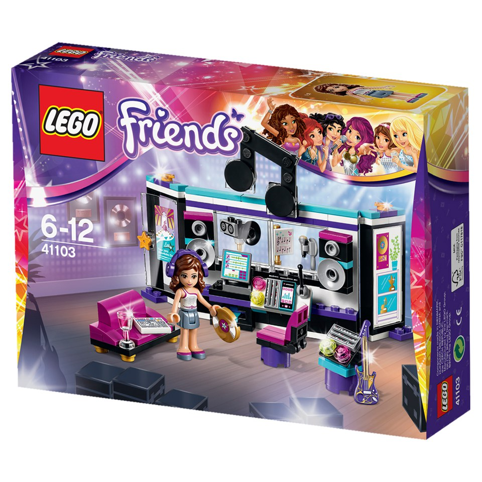 Toys For Friends : Lego friends pop star recording studio toys zavvi