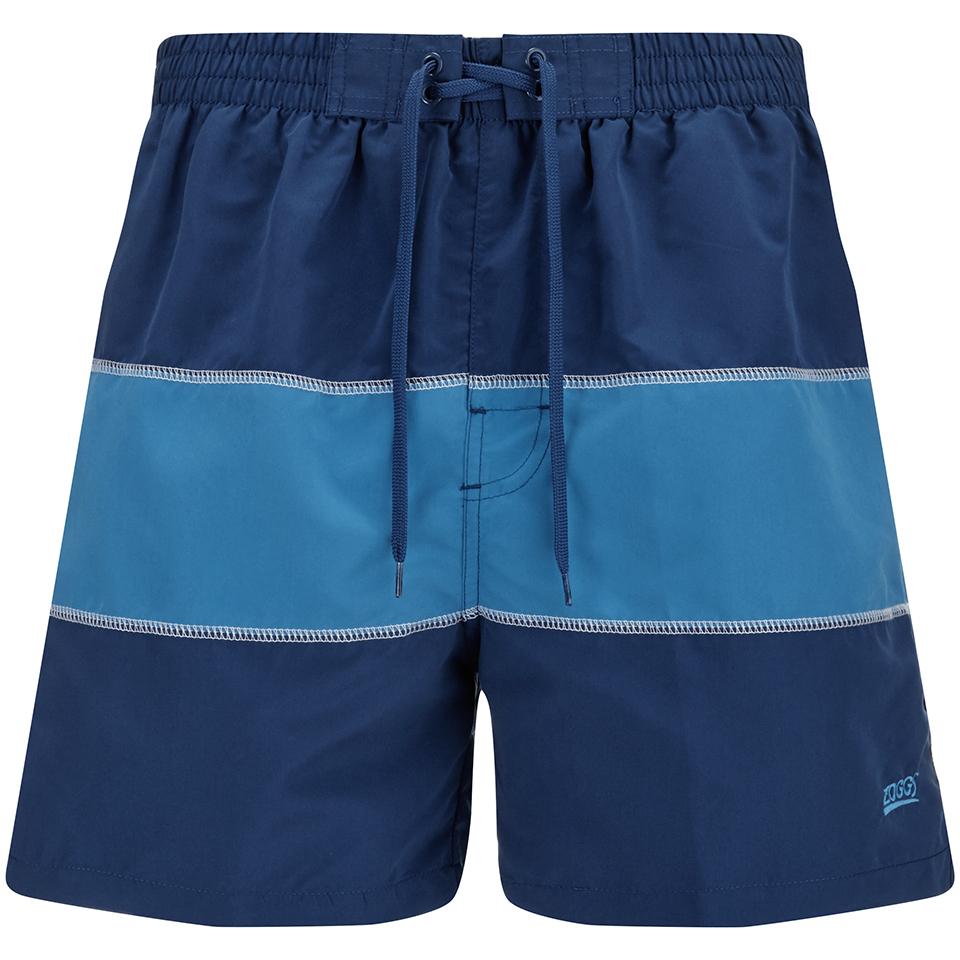 7172493cd Zoggs Men's Water Check Woodgate 17 Inch Swim Shorts - Petrol Blue