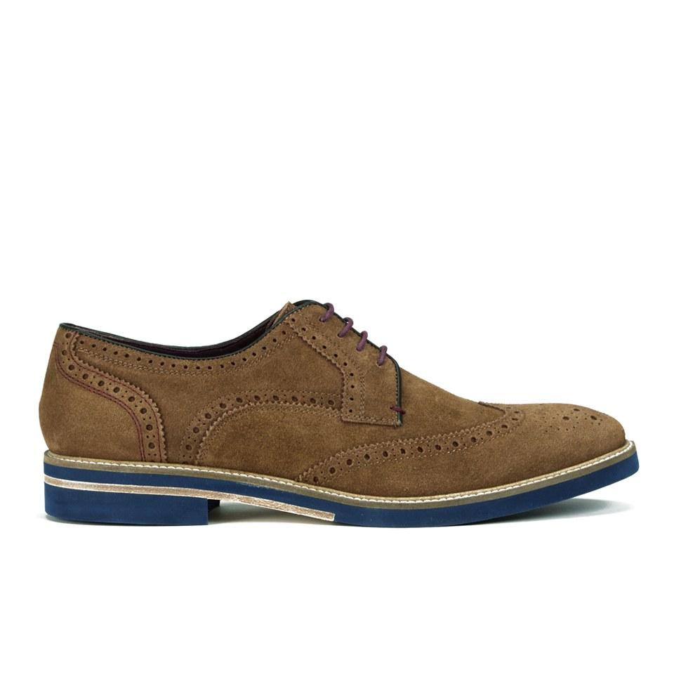 70263c98e Ted Baker Men s Archerr 2 Suede Brick Sole Brogue Shoes - Tan