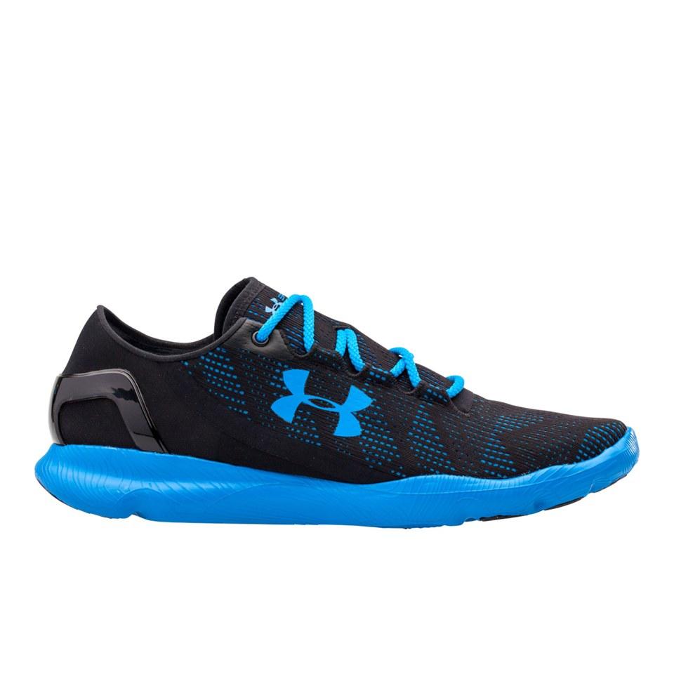 san francisco 0c9e7 2c7a3 Under Armour Men's SpeedForm Apollo Vent Running Shoes - Black/Blue Jet
