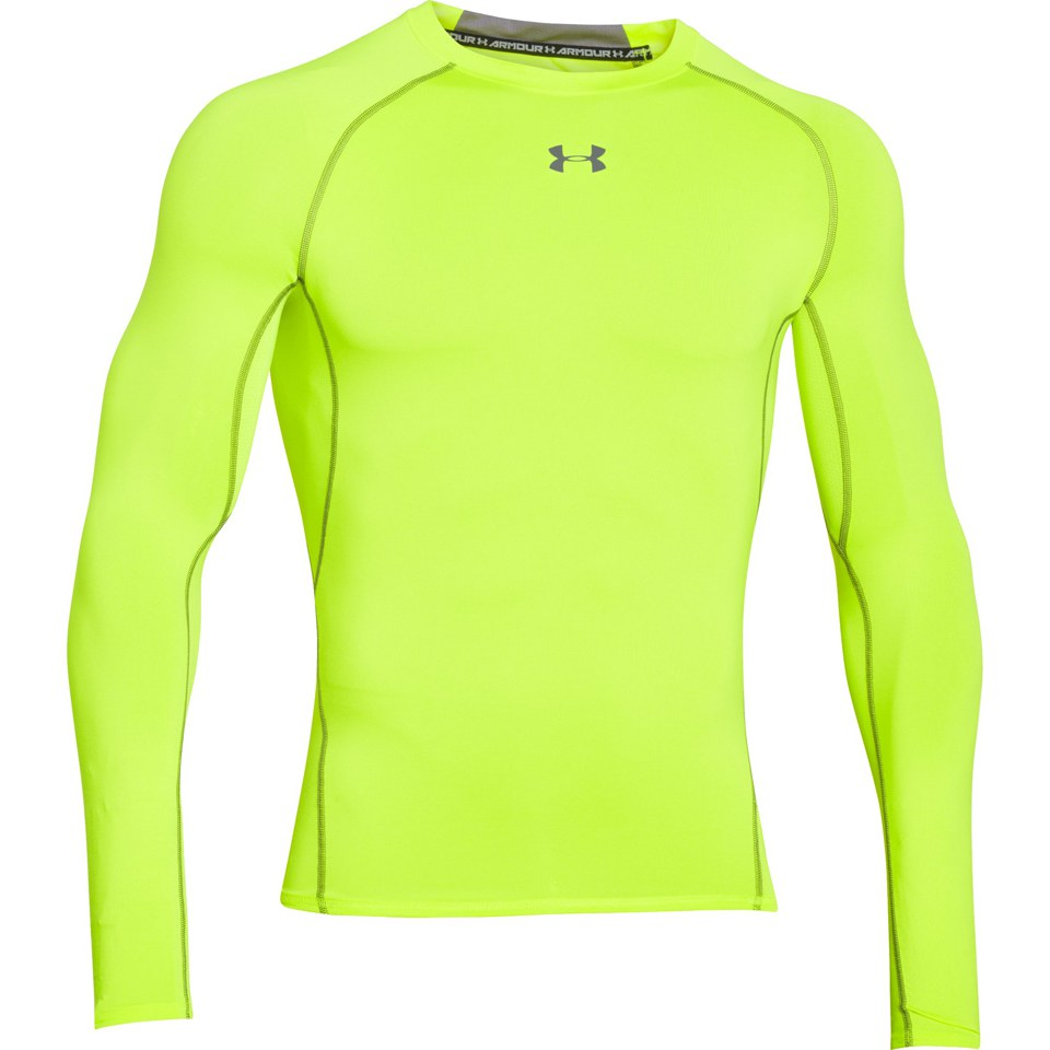 Compression & Base Layers Under Armour Mens 2018 Heatgear Training Short Sleeve Compression Top Green Sporting Goods