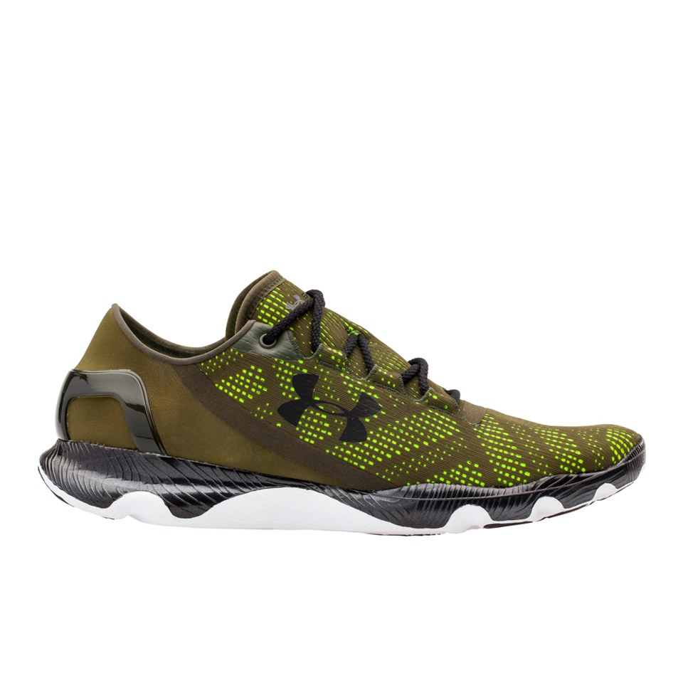 the latest 2688f 1b4a5 Under Armour Men's SpeedForm Apollo Vent Running Shoes - Rifle Green/Black