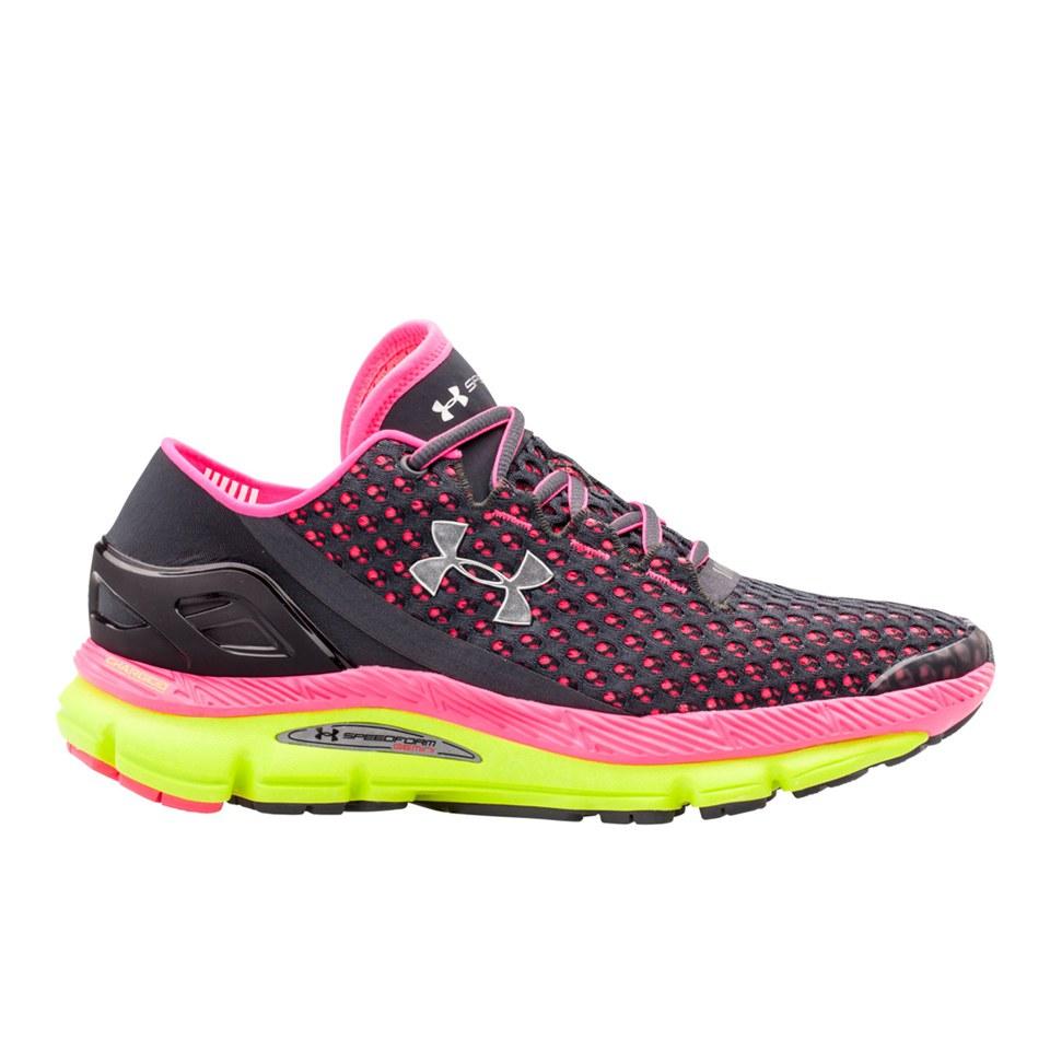 76e7e1eb11f Under Armour Women s Speedform Gemini Running Shoes - Lead High-Vis ...