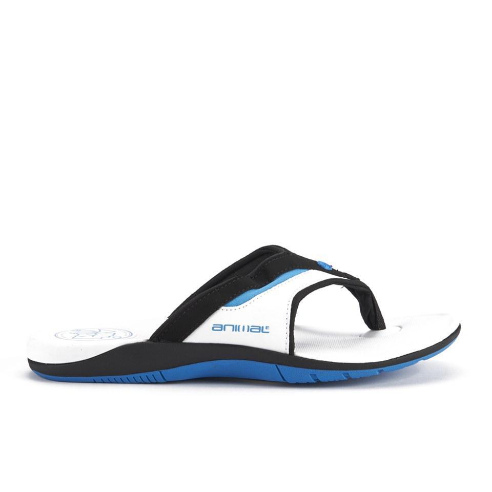 82e94951b8d5 Animal Men s Fader Premium Flip Flops - White Mens Footwear