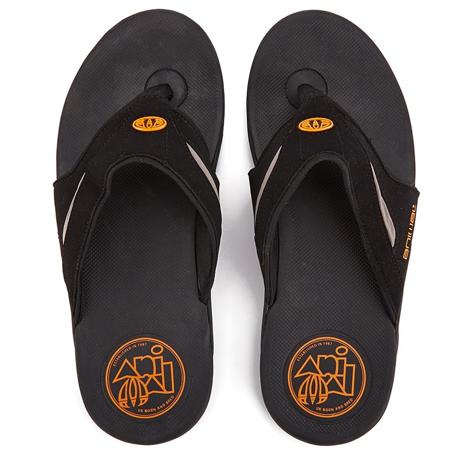 f9f5c2153002b Animal Men s Fader Premium Flip Flops - Black Mens Footwear